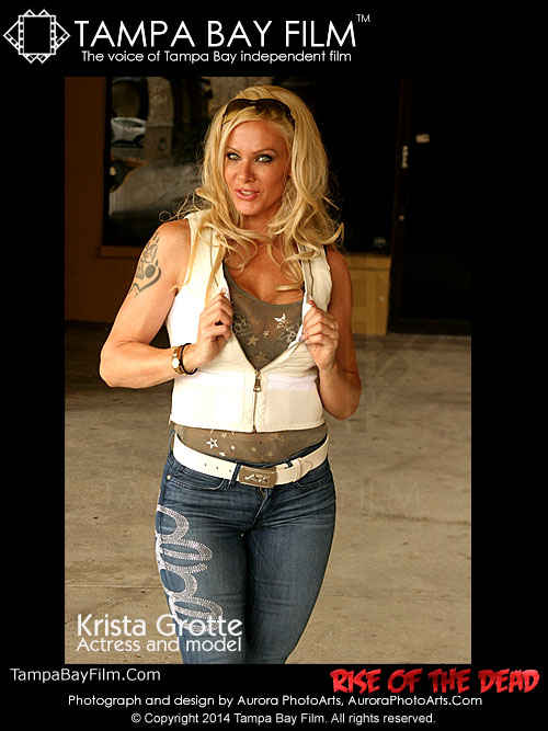 Actress and model Krista Grotte at the Rise of the Dead film festival in Tampa, Florida.